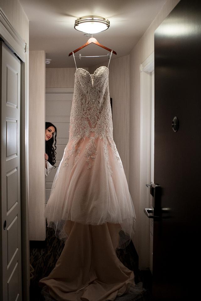 off white wedding gown
