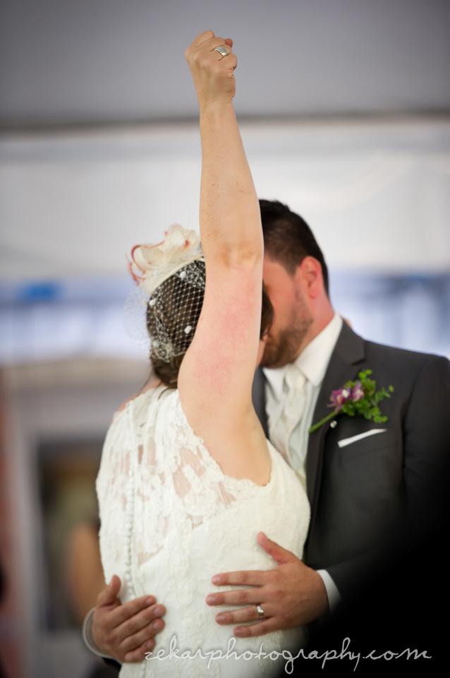 bride fist pump