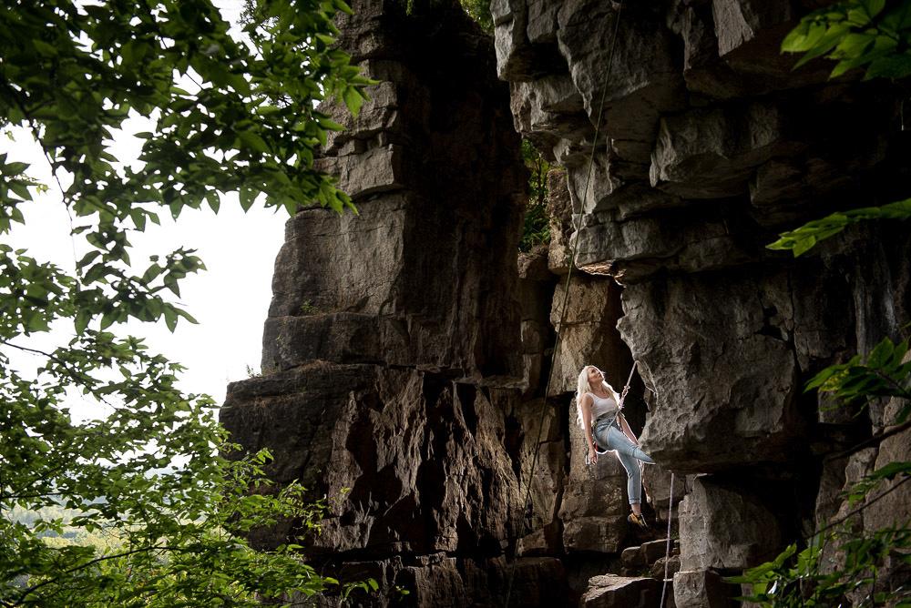 rock climbing engagement shoot rattlesnake point ontario