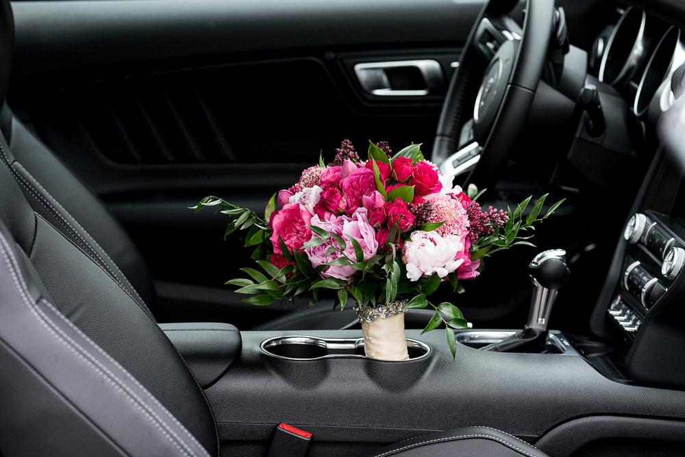 fuschia mauve wedding bouquet