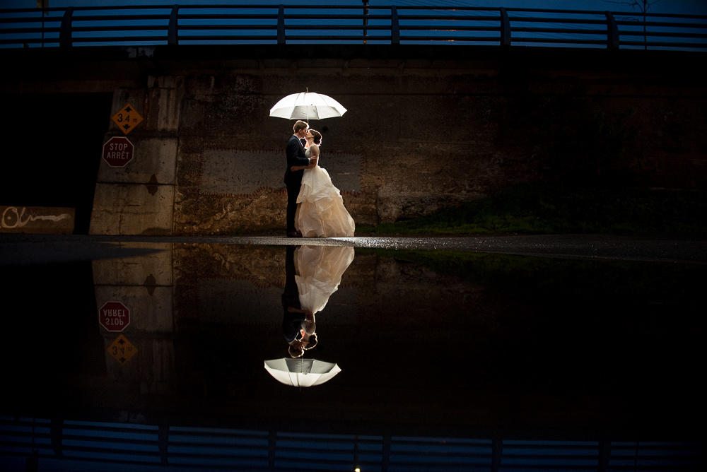 nighttime wedding portrait zekar photography