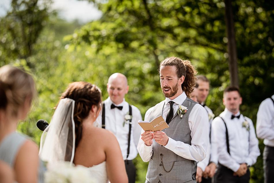 wedding ceremony glen drummond farm