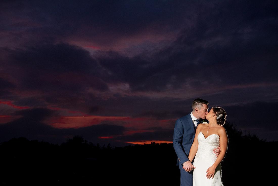 sunset photography wedding