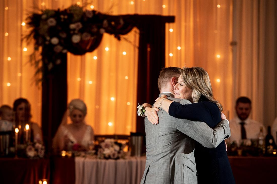 candid wedding reception