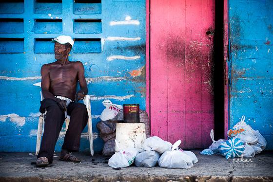 man in slums dominican republic