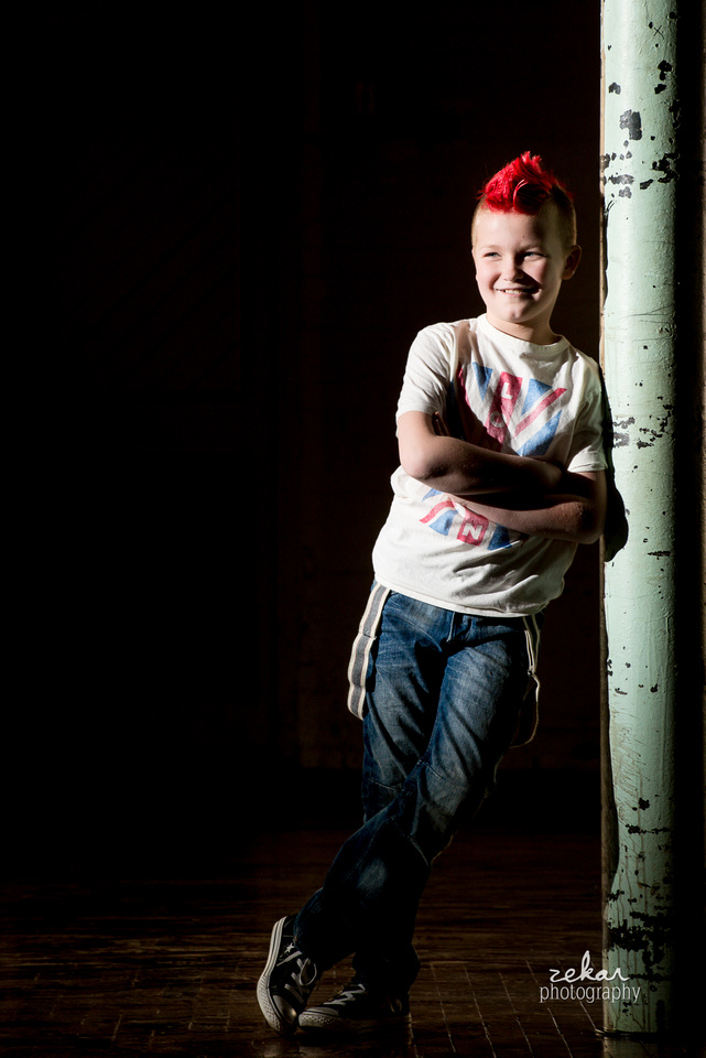 punk rock kid photoshoot
