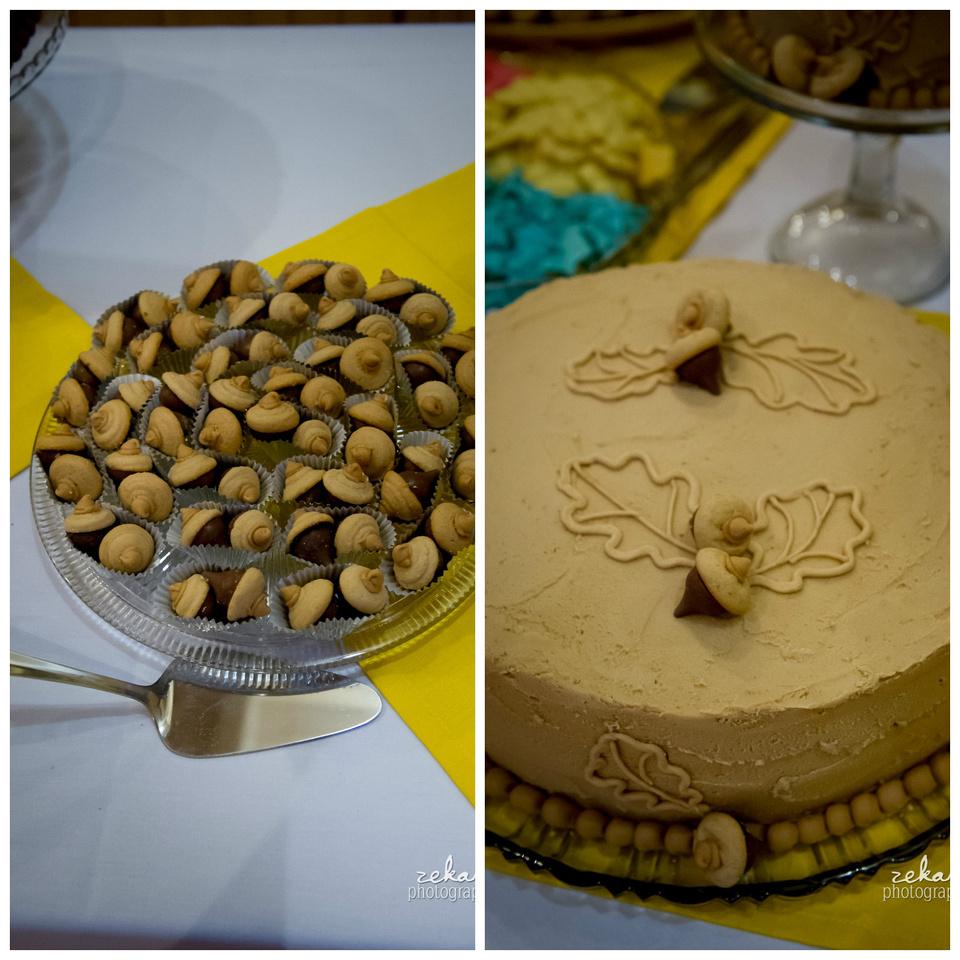 acorn themed wedding