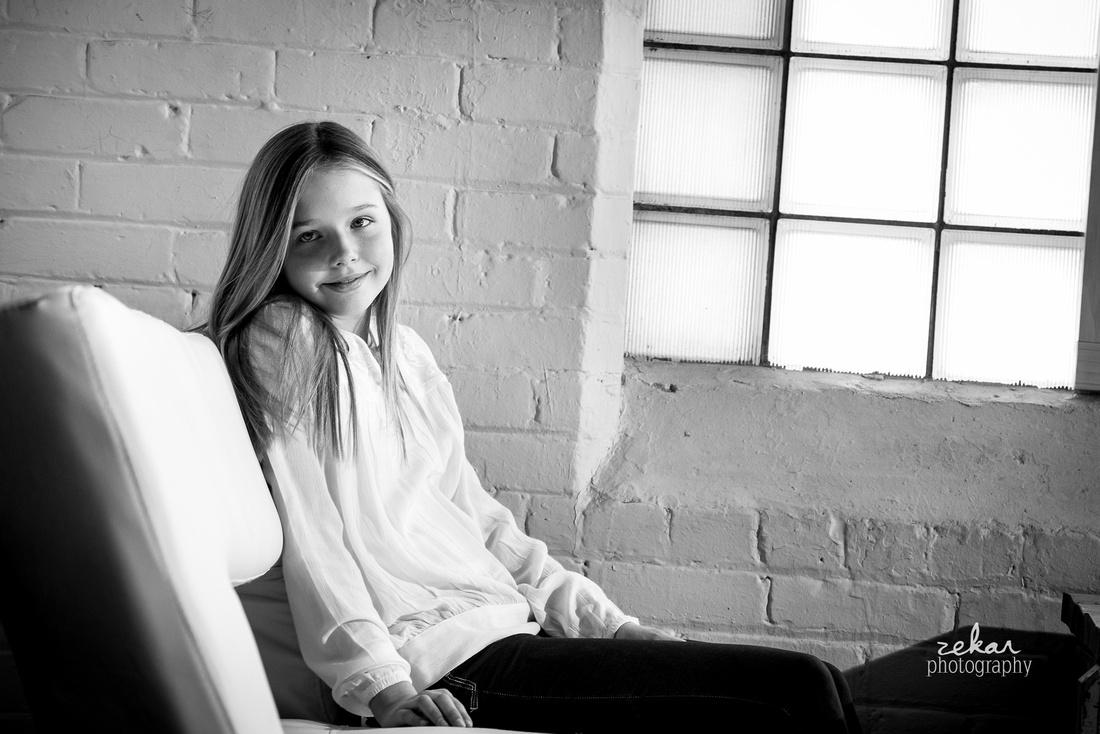 modelling portrait black and white