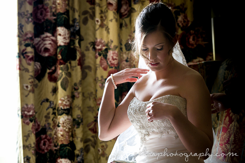 bride in low light photography