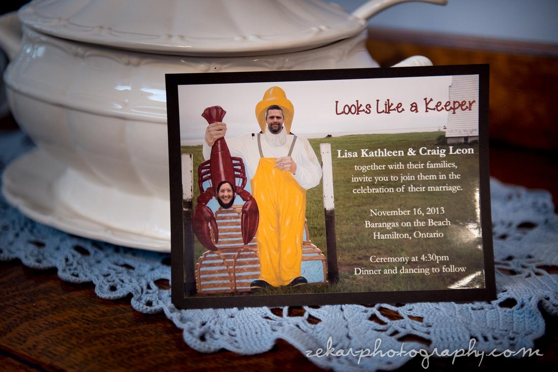 maritime themed wedding invitation