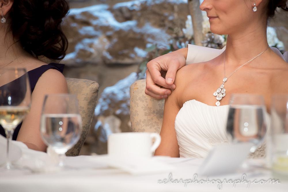 groom tender hand on bride