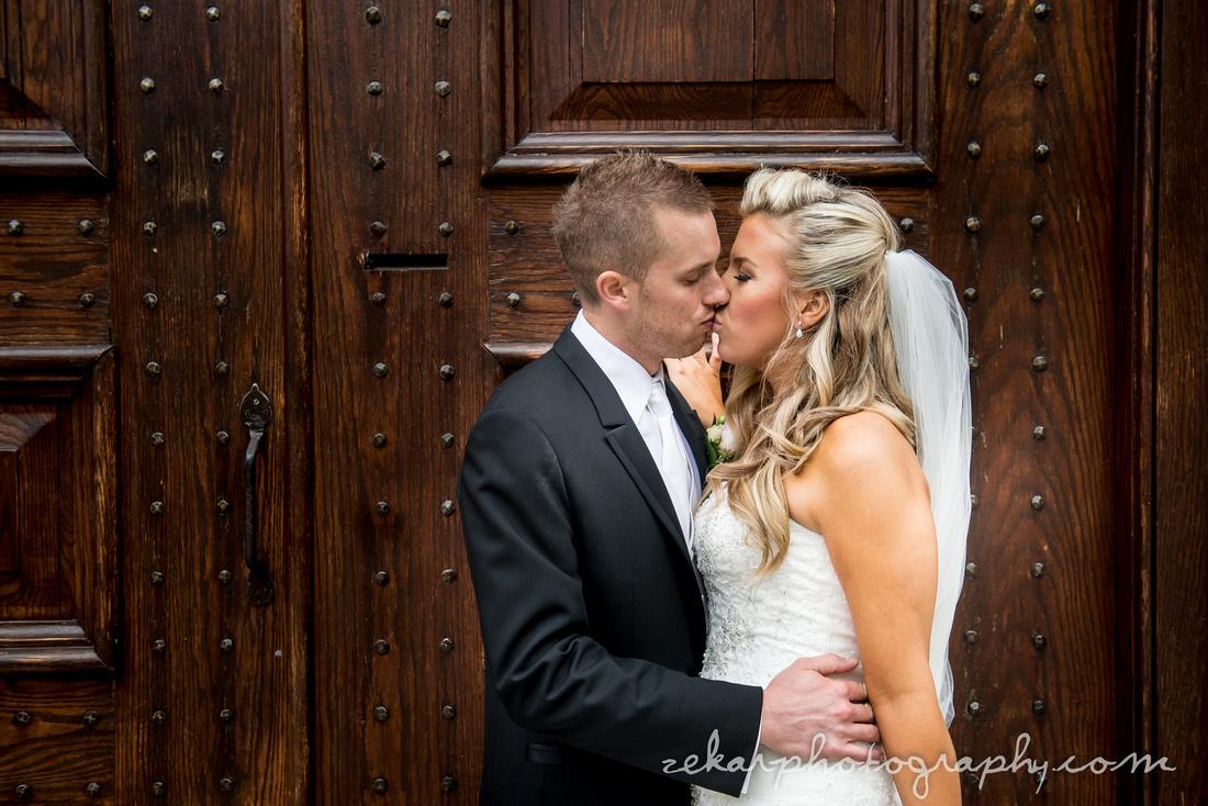 bridal portrait in front of doors