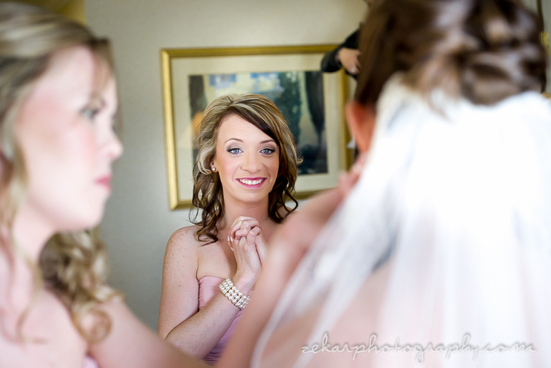 friend seeing bride for the first time