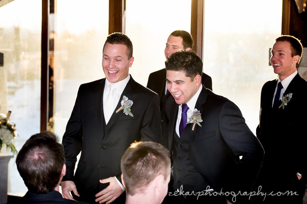 groomsmen greeting guests
