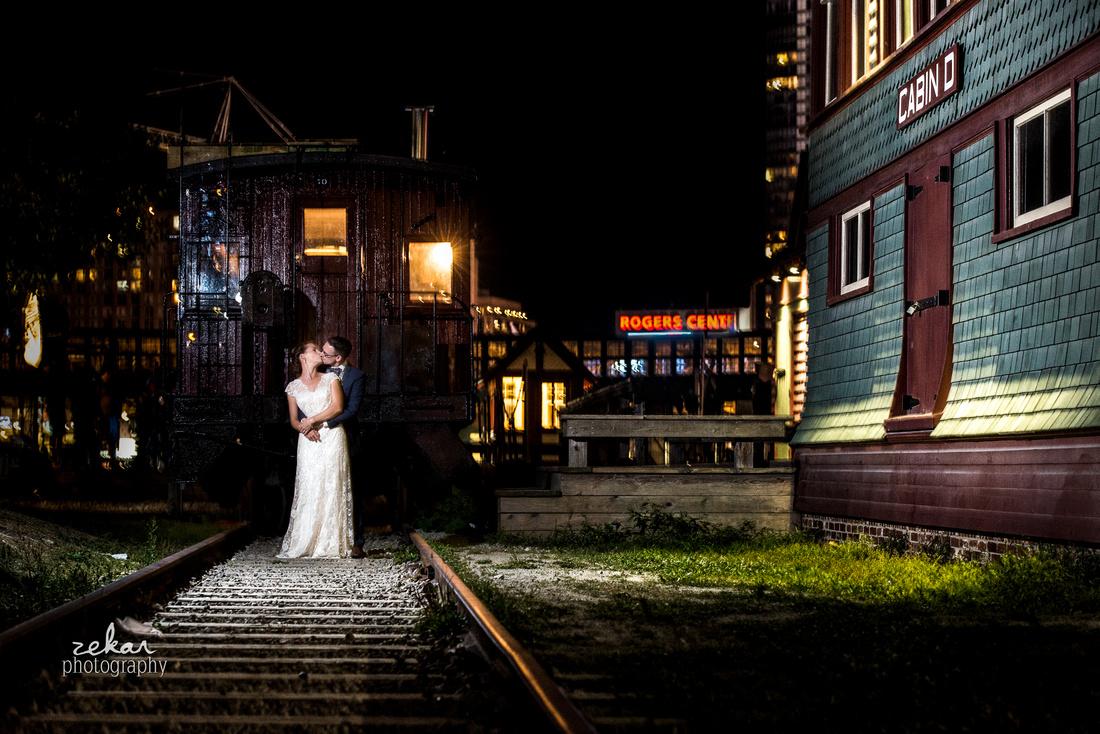 night time wedding photography toronto