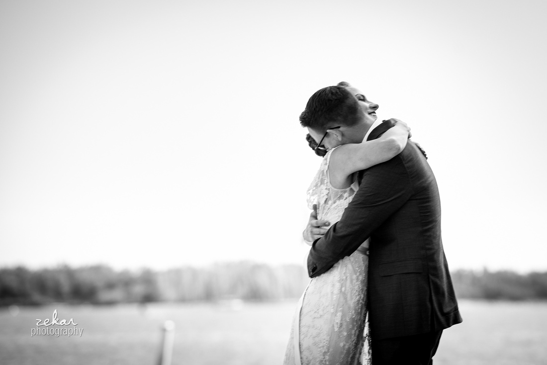 black and white picture of couple hugging