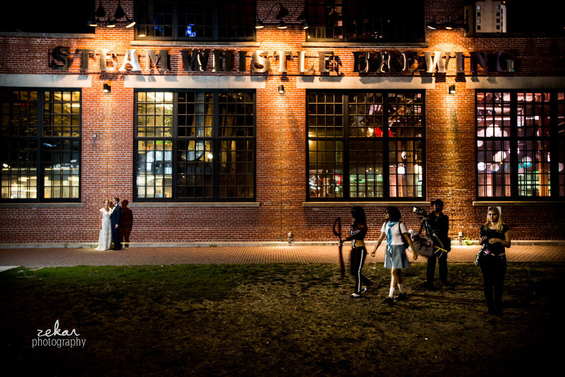 night time wedding photography fan expo
