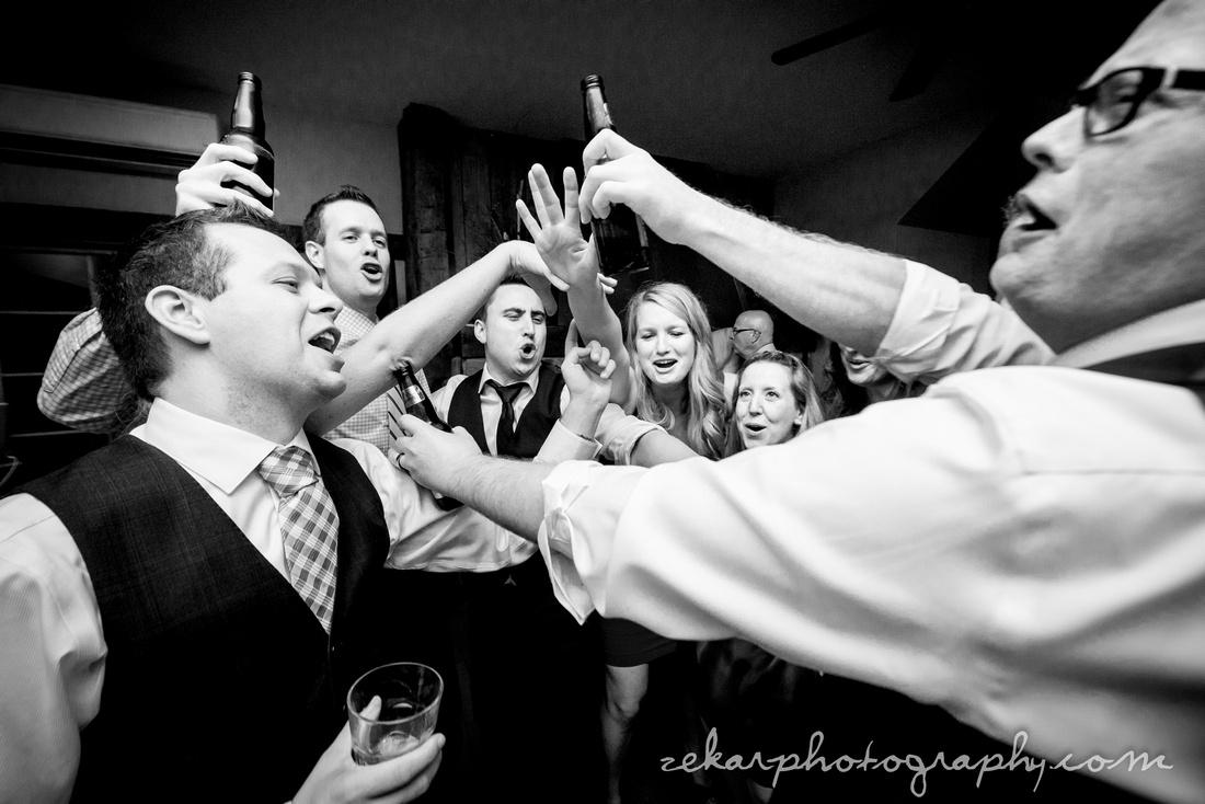 black and white reception picture