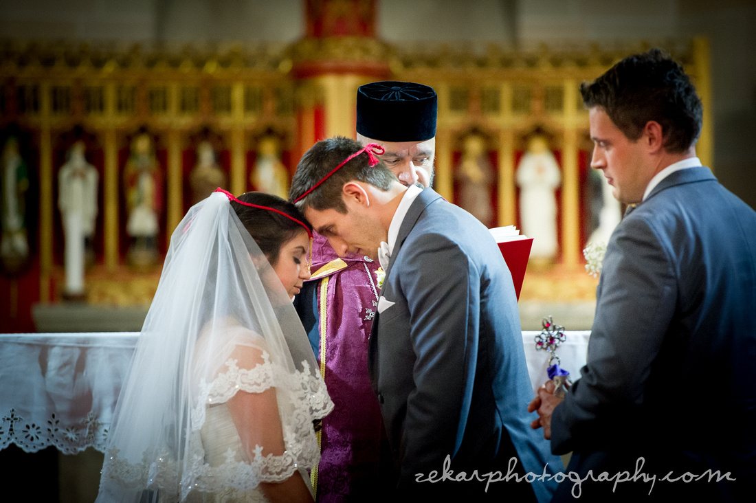 bride and groom crowning Armenian tradition