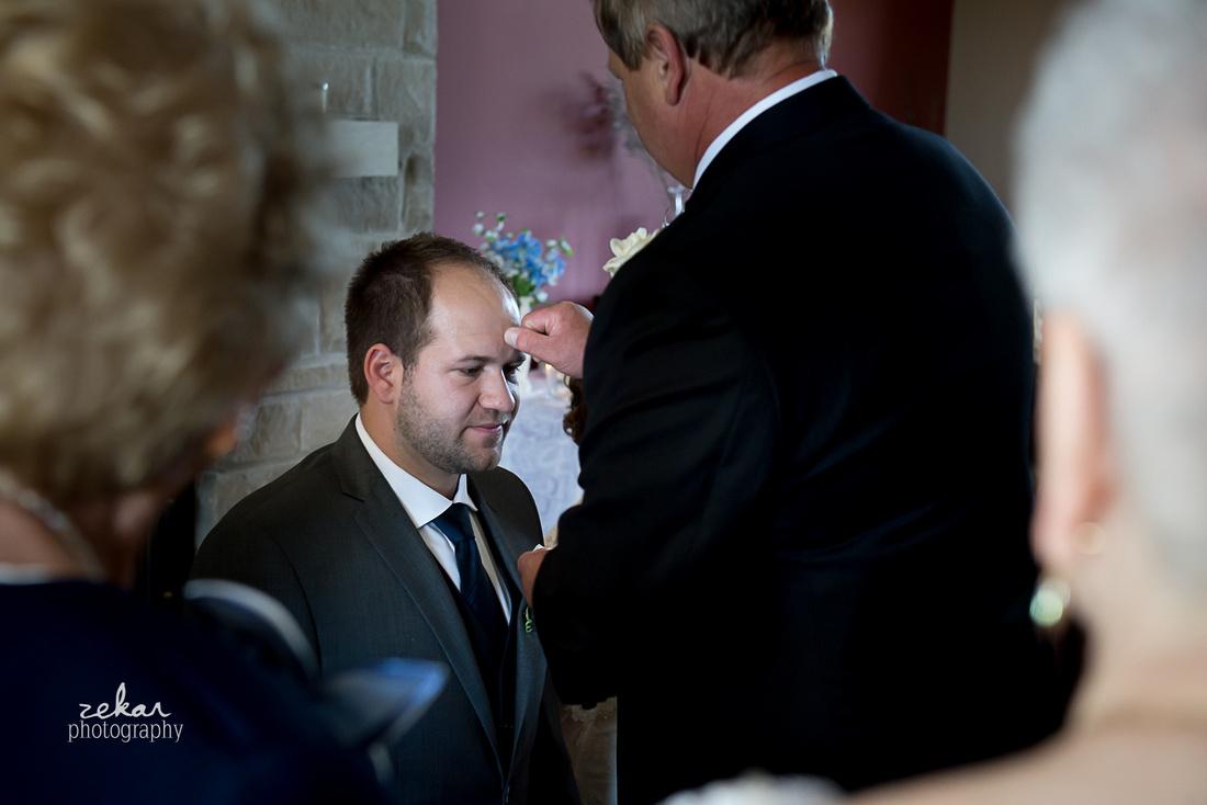 groom being blessed