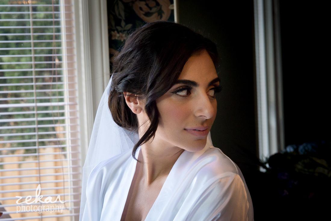 bride looking behind her