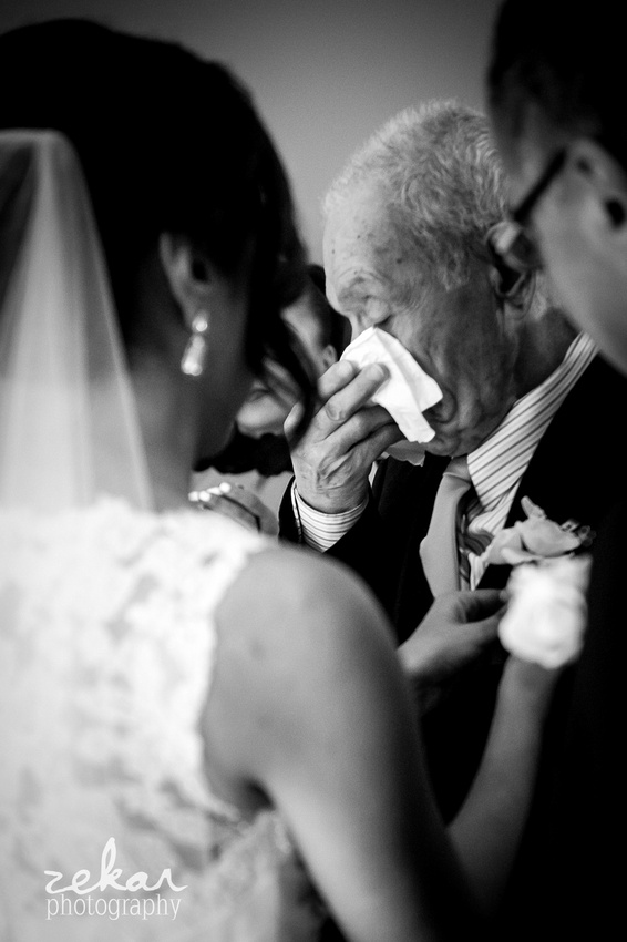 grandfather crying when he sees bride for first time