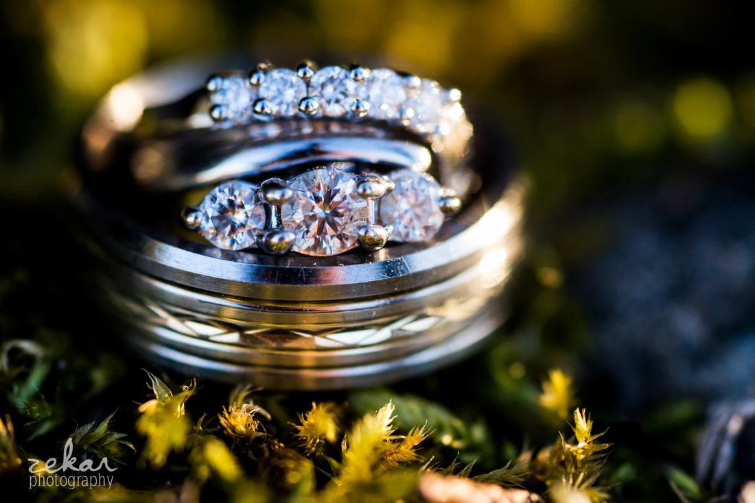 wedding rings shot