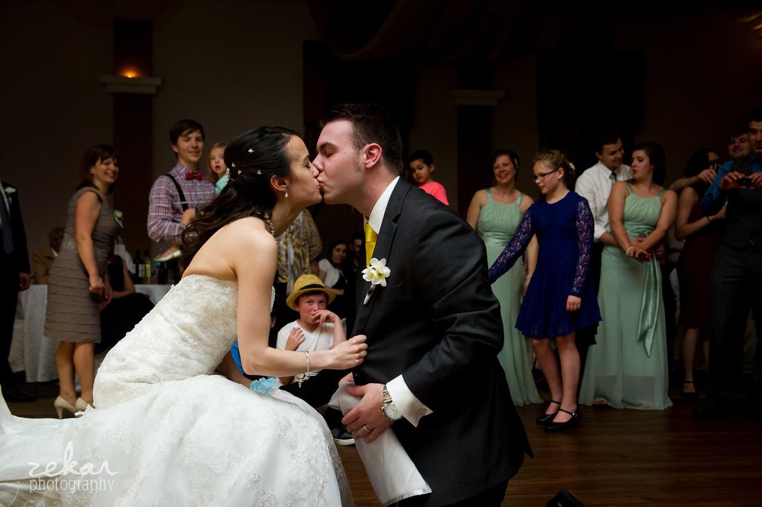 garter groom bride