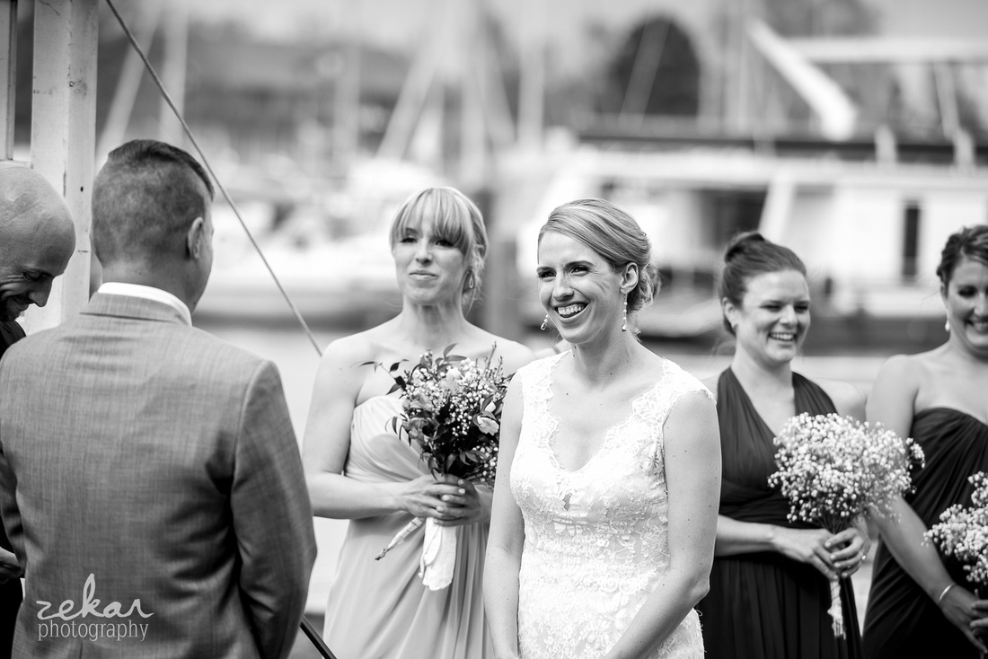 wedding ceremony hamilton yacht club