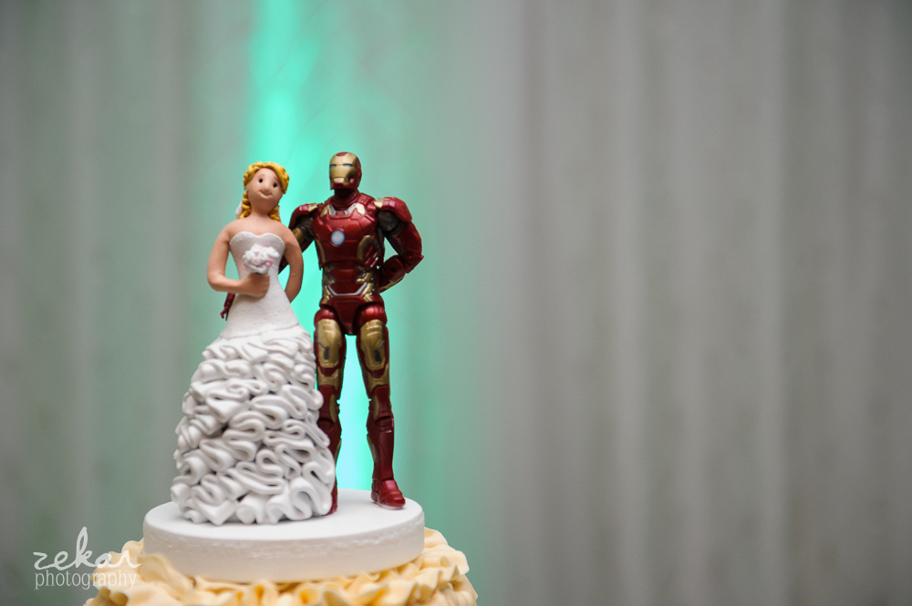 custom wedding cake iron man