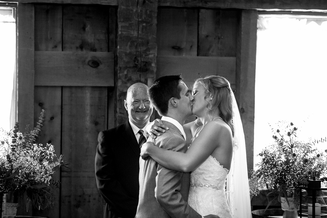 first kiss wedding