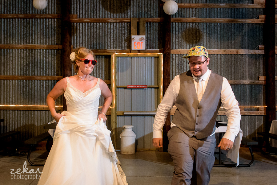 hip hop bride and groom
