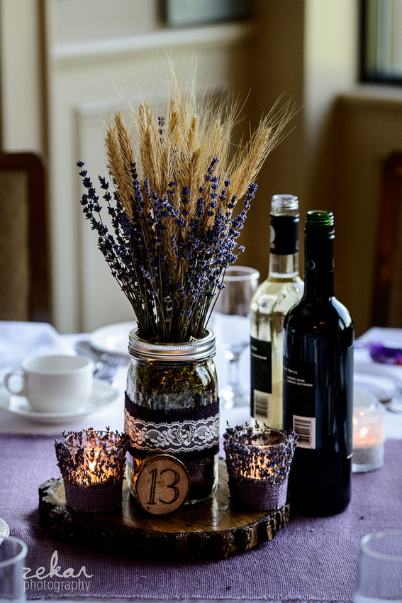 lavender table decorations