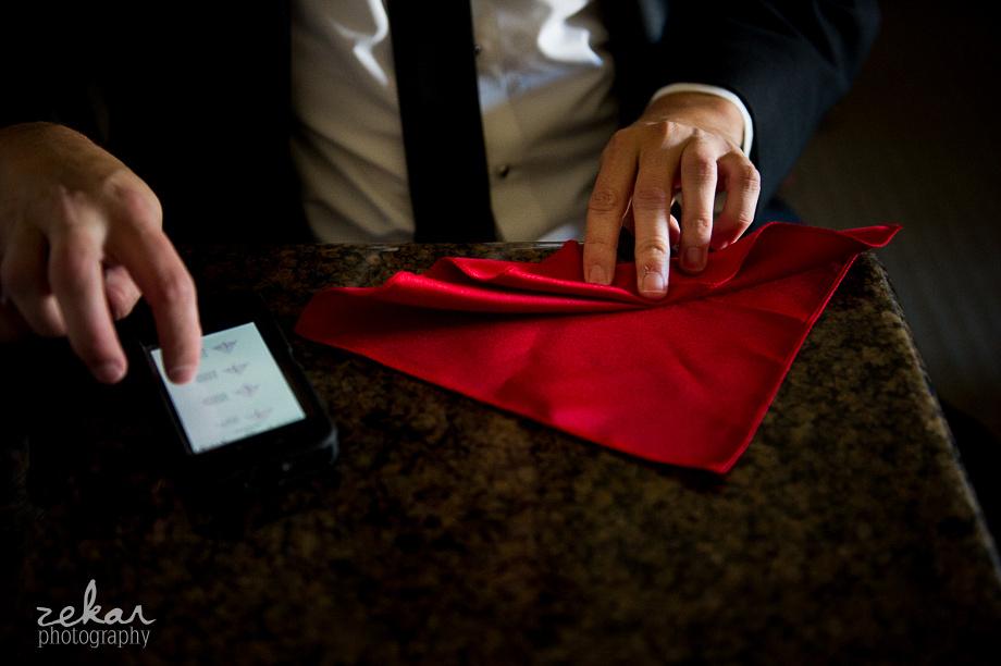 folding hankerchief