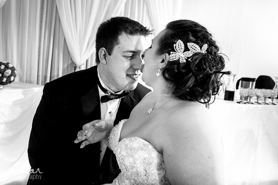 bride licking nose