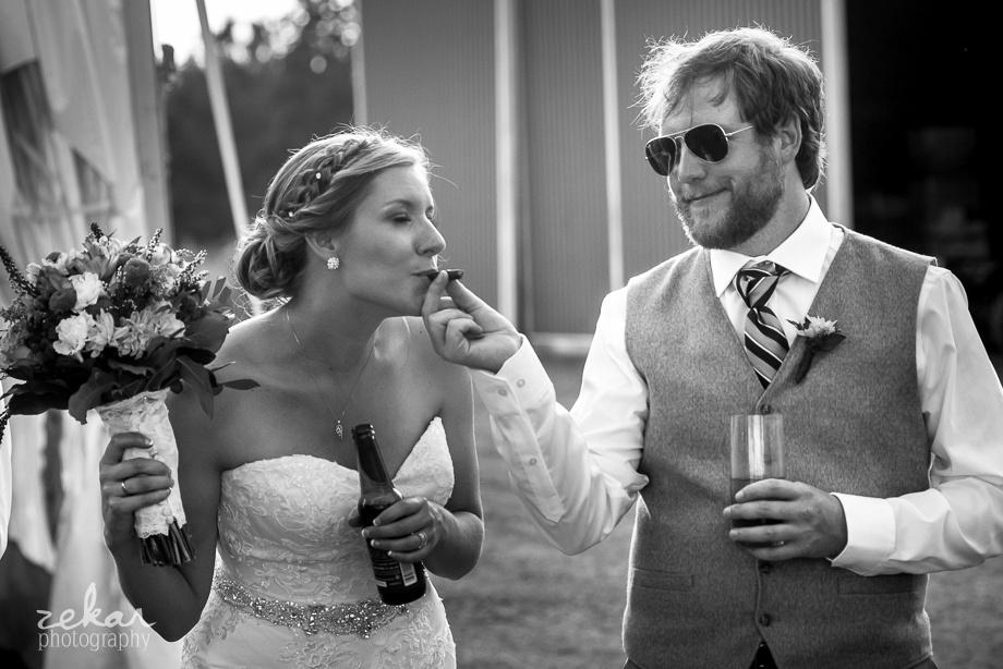 bride smoking cigar