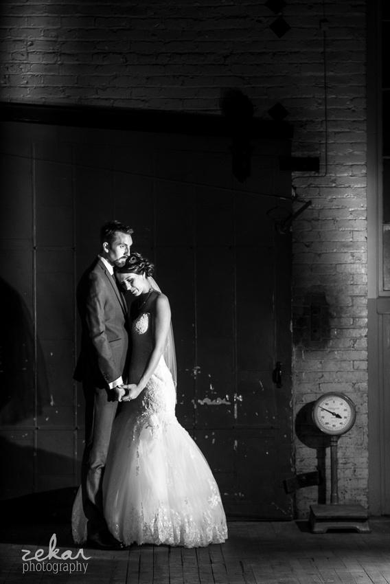 dramatic bridal portrait