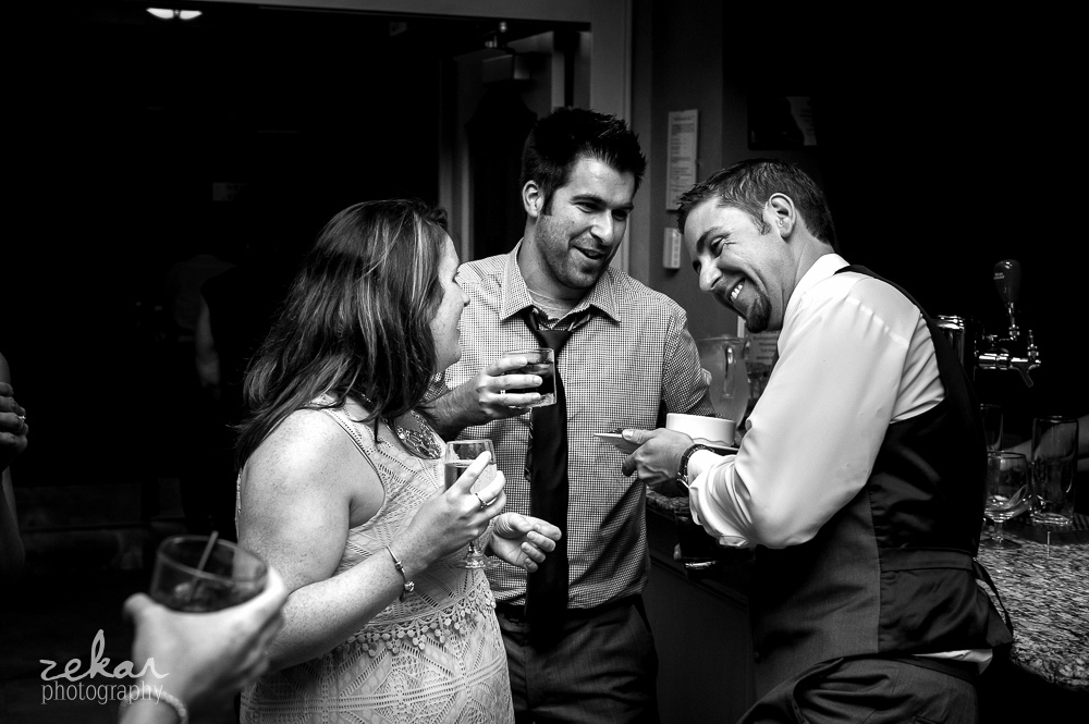 groom hanging out with friends