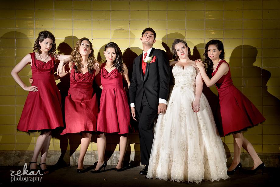 bridesman and bridesmaids