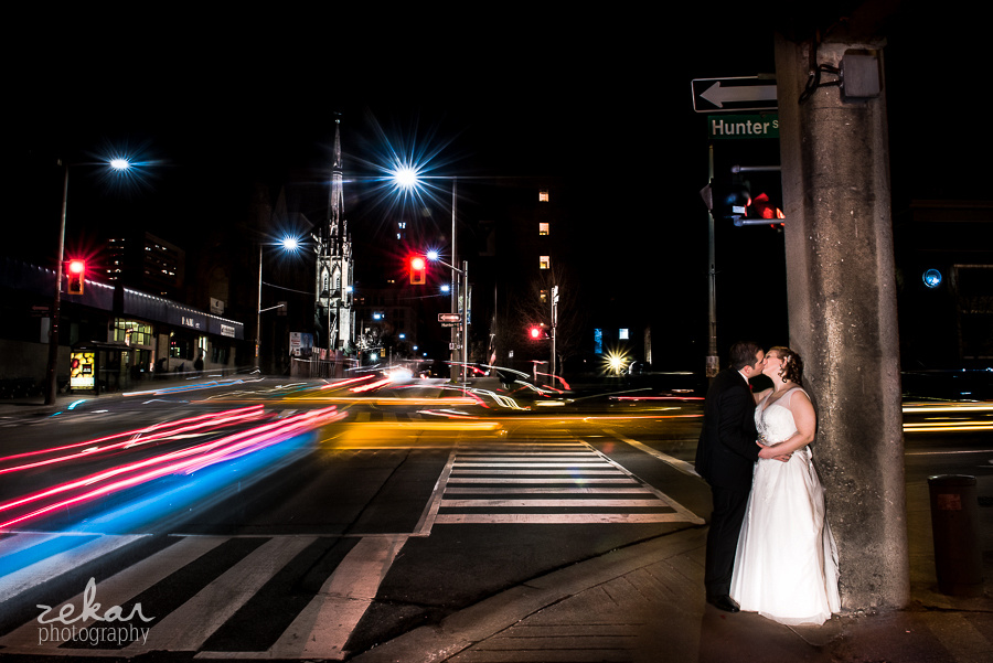 night time wedding portraits