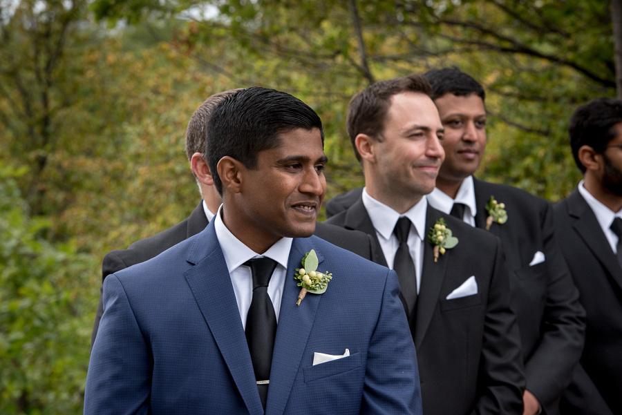 groom looking