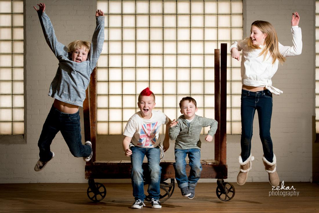 kids jumping photoshoot