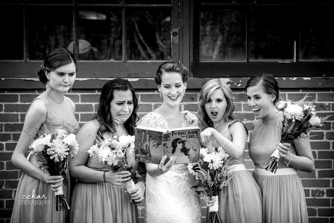 hilarious bridal party shot