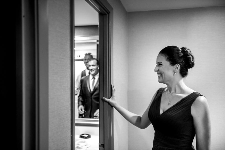 excited bridesmaid