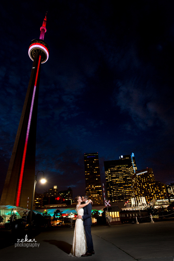 bride and groom wedding photography CN Tower Toronto