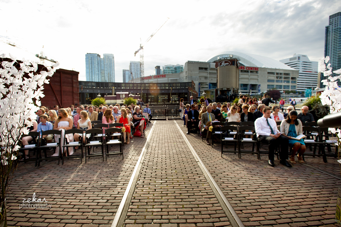 ceremony at steamwhistle brewery