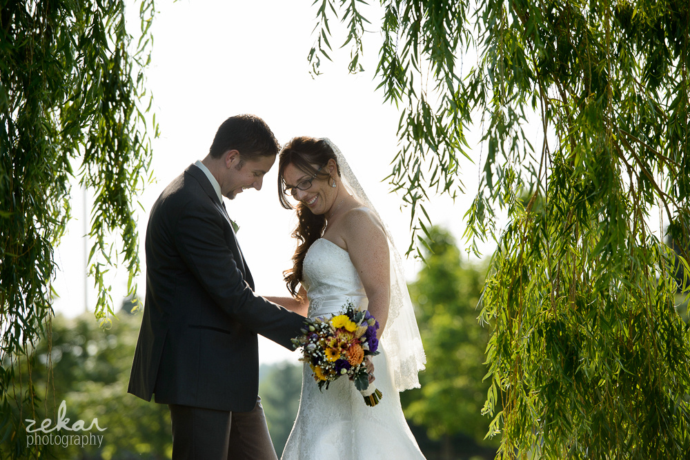 couple under willow tree