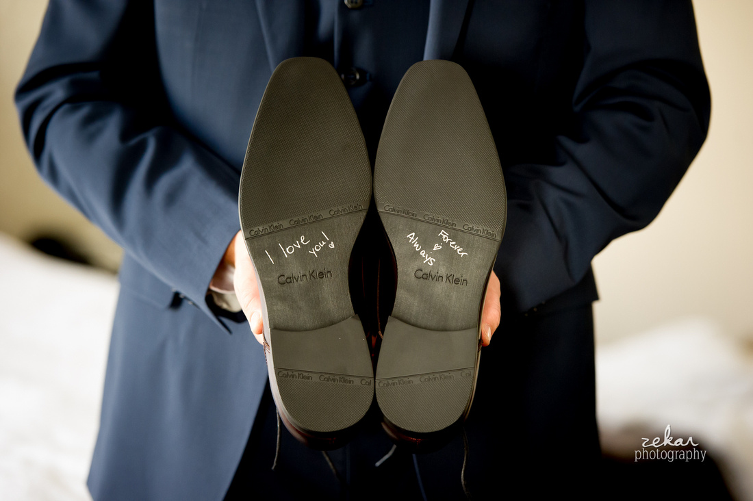 wedding writing on bottom of shoes