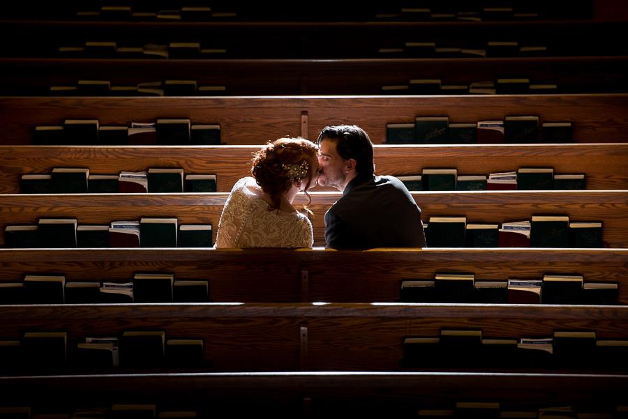 kissing in church pews