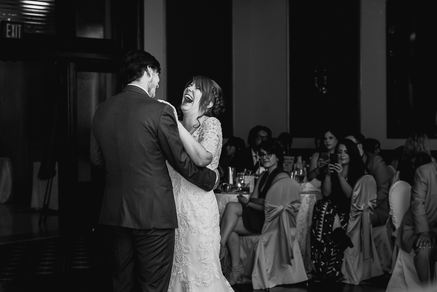 laughing at first dance